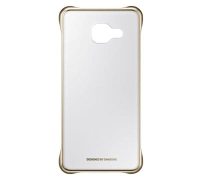 Etui SAMSUNG Clear Cover do Galaxy A3 (2016) Złoty