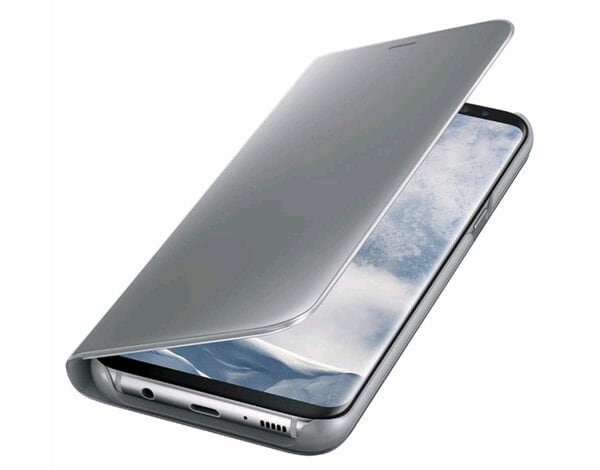 Etui SAMSUNG Clear View Standing Cover do Galaxy S8+ Srebrny EF-ZG955CSEGWW