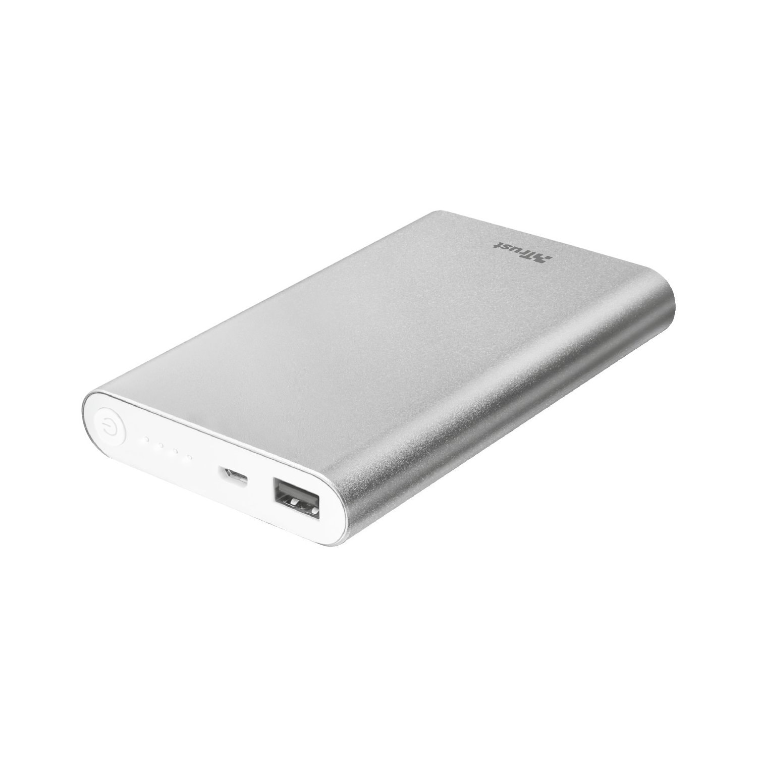 Powerbank TRUST Ula Thin Metal 8000 Srebrny