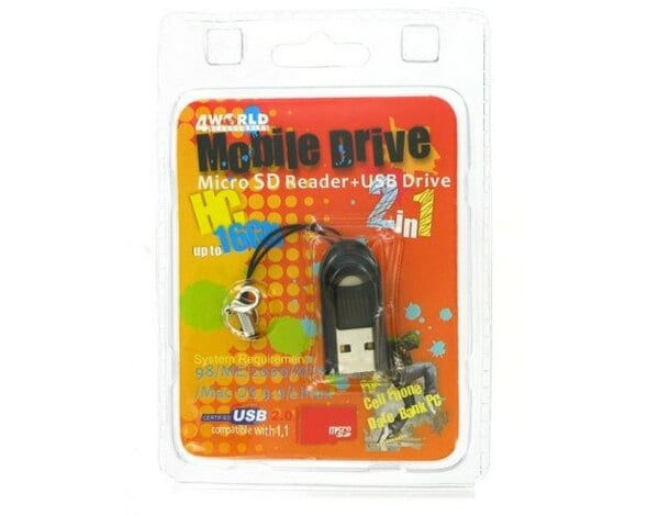 Czytnik 4WORLD Mikro czytnik kart - PenDrive MicroSD/T-FLASH USB 2.0