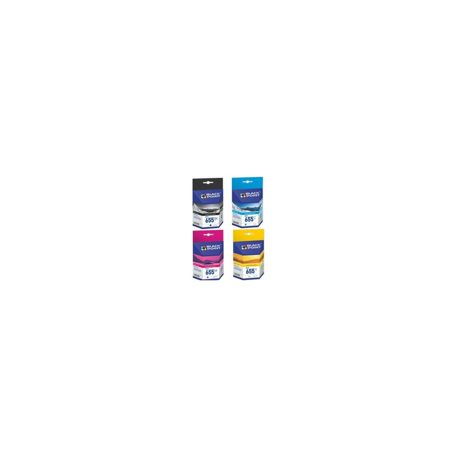 Tusz BLACK POINT BPH655CMYK Multipak Zamiennik HP 655