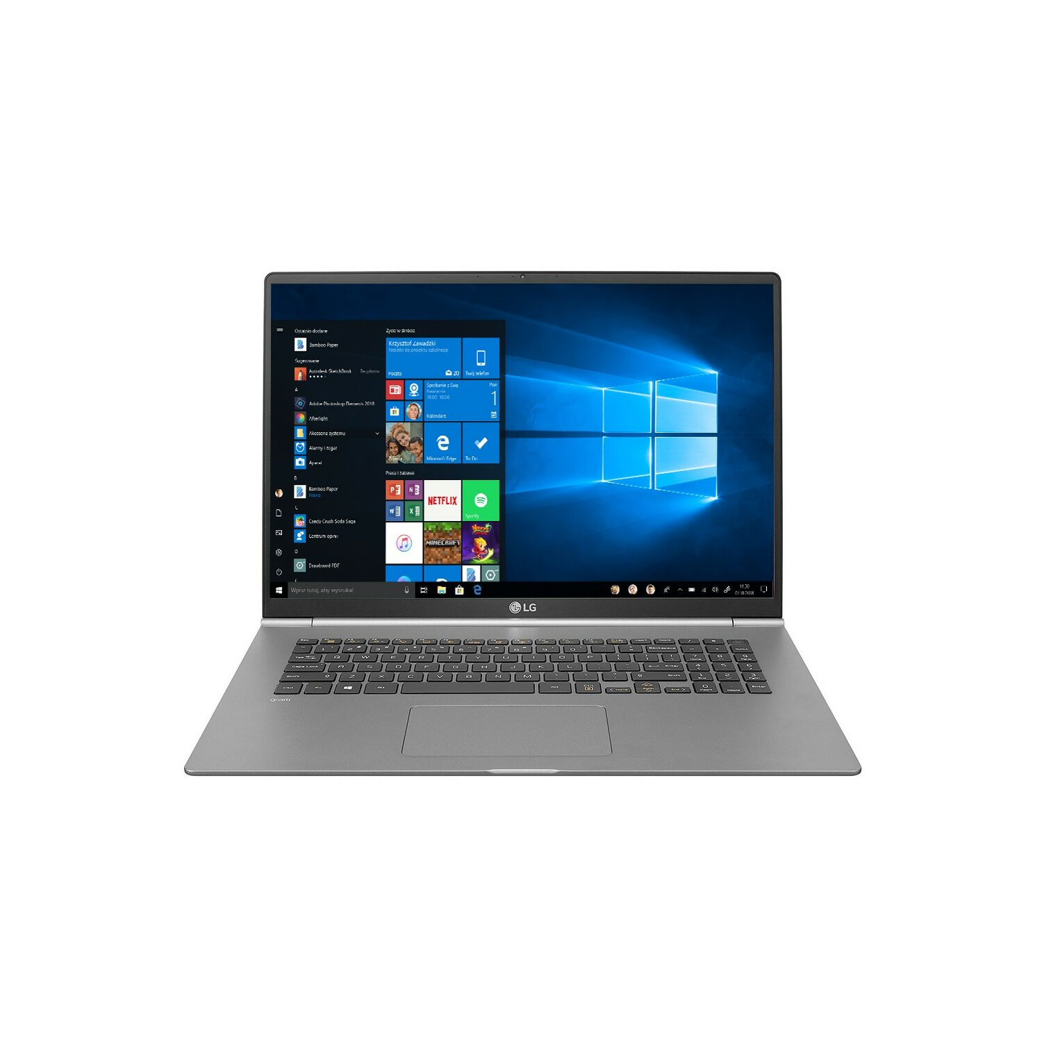 Laptop LG Gram 17Z990 i7-8565U/8GB/512GB SSD/INT/Win10H Srebrny