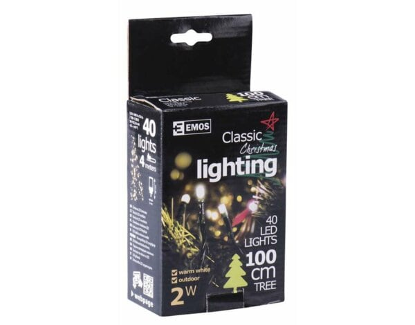 Lampki choinkowe EMOS 40 LED CHRISTMAS 4M WW ZY1701