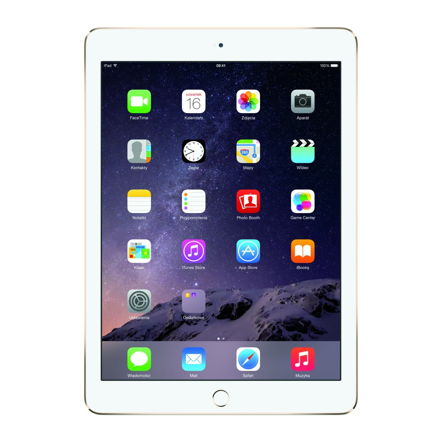 Tablet APPLE iPad Air 2 128GB Wi-Fi Złoty MH1J2FD/A