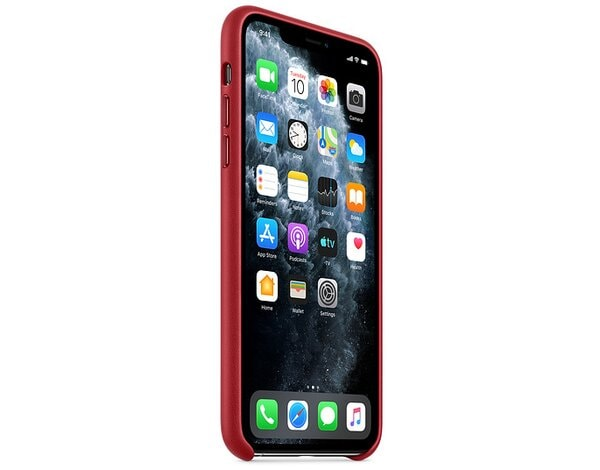 Etui APPLE Leather Case do iPhone 11 Pro Czerwony MWYF2ZM/A