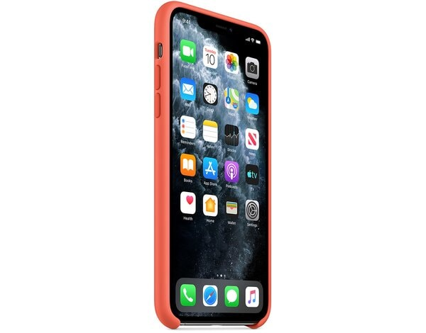 Silikonowe etui APPLE Silicone Case do iPhone 11 Pro Max Jasnopomarańczowy MX022ZM/A