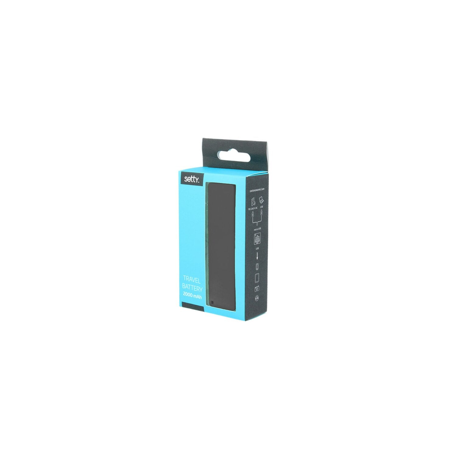 Powerbank FOREVER TF1 Setty 2000mah Czarny