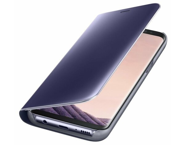 Etui SAMSUNG Clear View Standing Cover do Galaxy S8 Fioletowy EF-ZG950CVEGWW