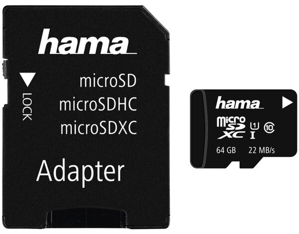 Karta Pamieci Hama Microsdxc 64gb 22mb S Class 10 Uhs I Adapter
