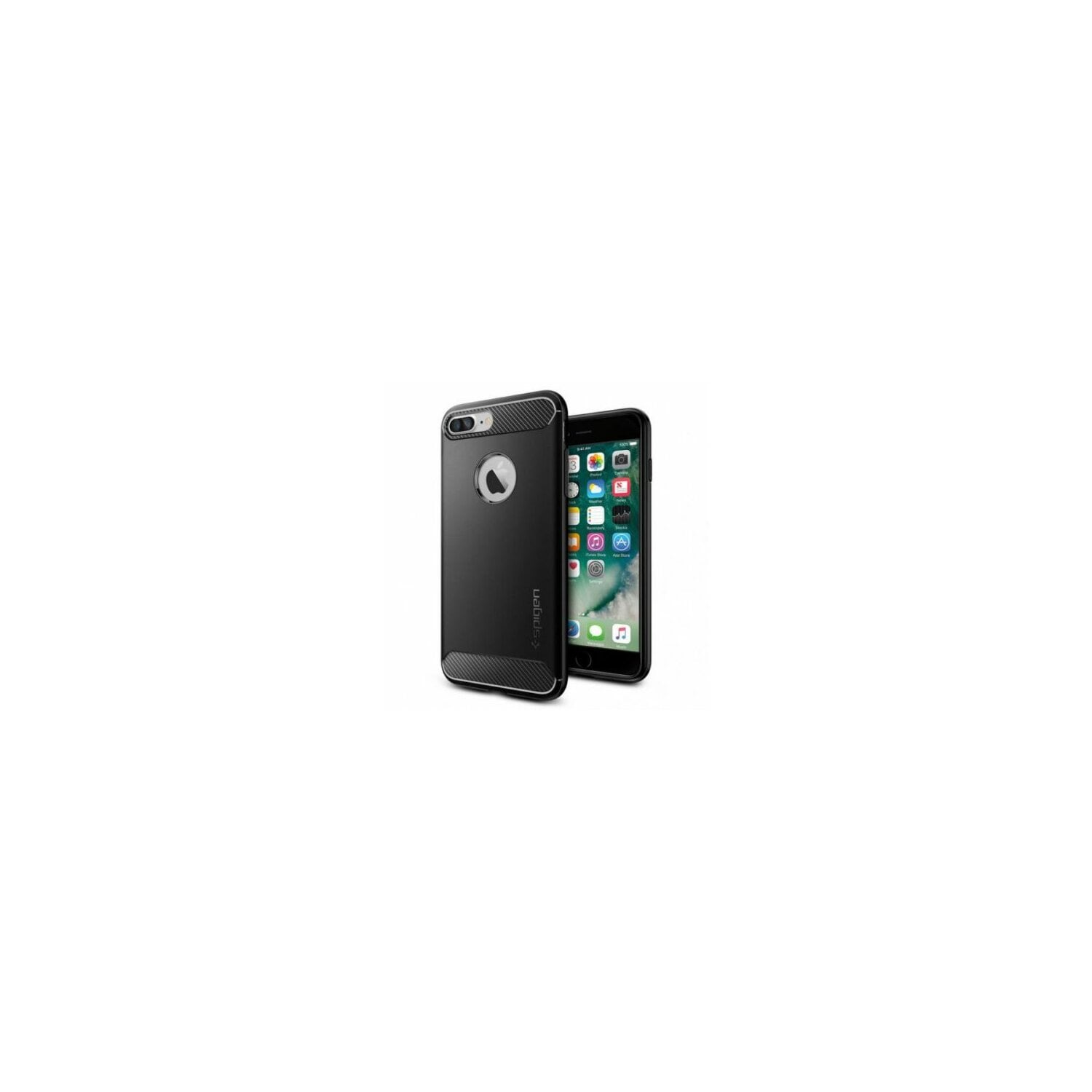 Etui SPIGEN Rugged Armor do Apple iPhone 8 Plus Czarny